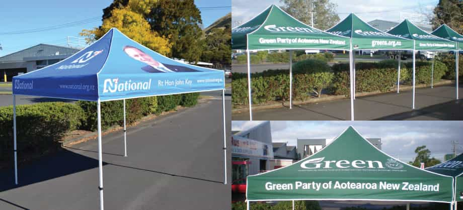 National and Green Party Branded Gazebos