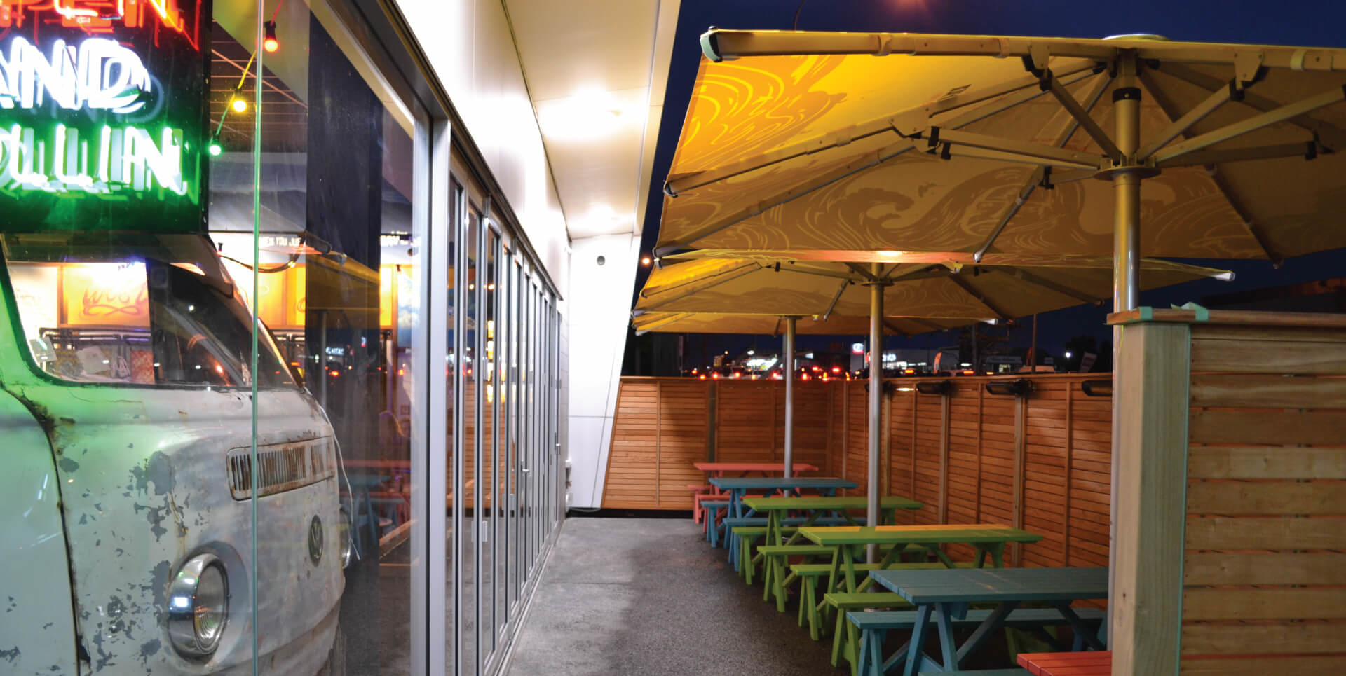 Commercial Outdoor Umbrellas with Branding
