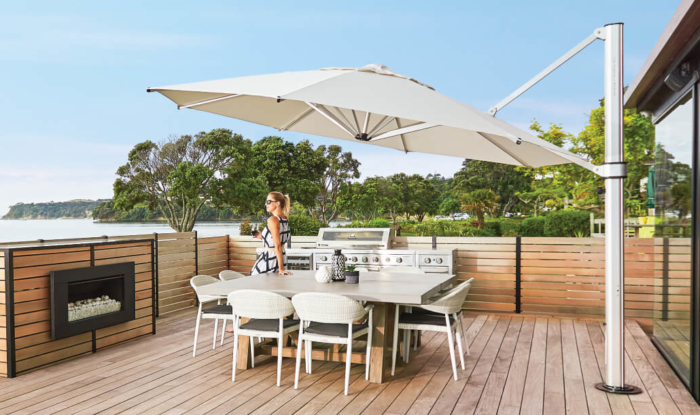Large Cantilever Umbrella White in NZ