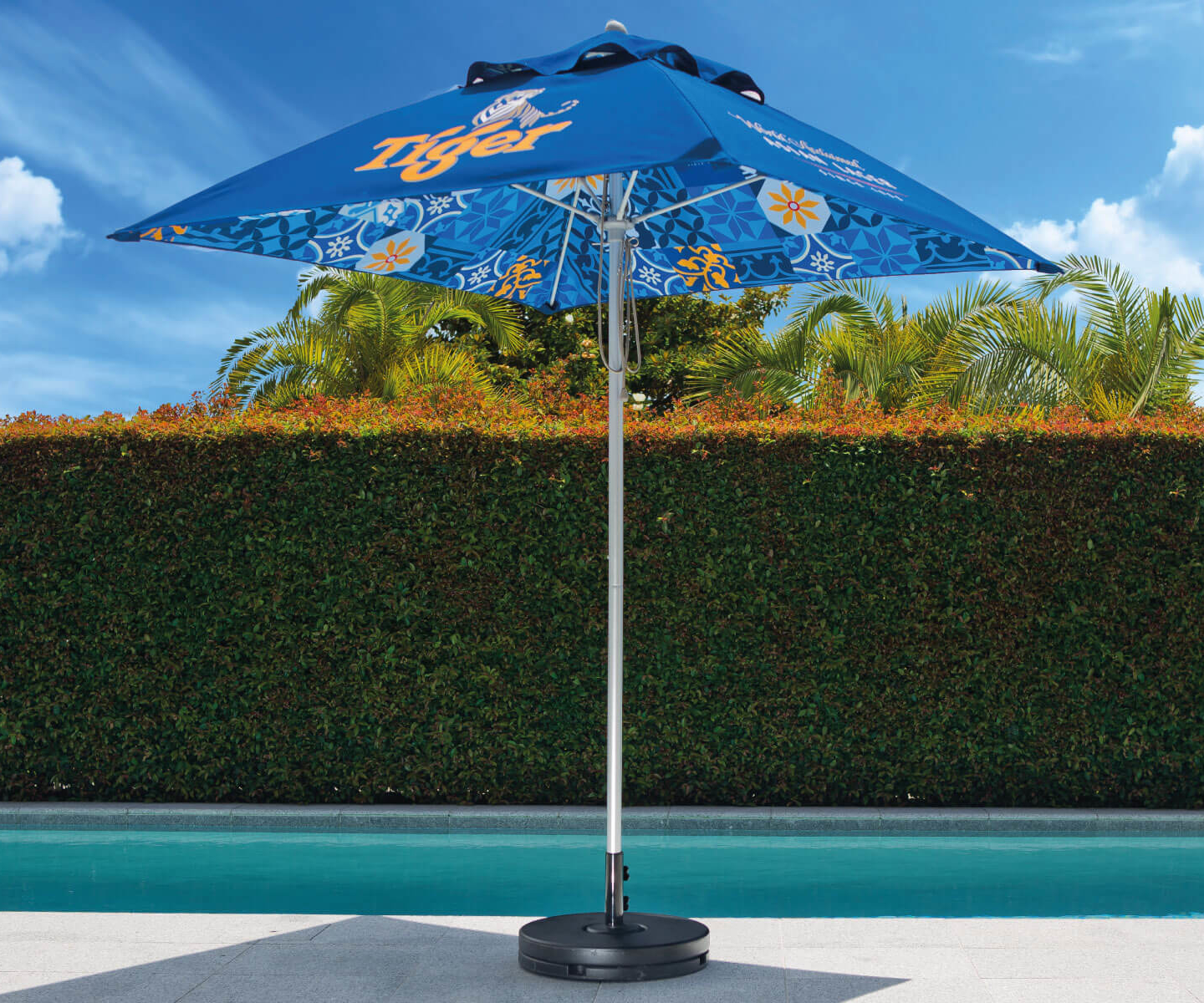 Tiger Branded Outdoor Printed Sun Umbrellas