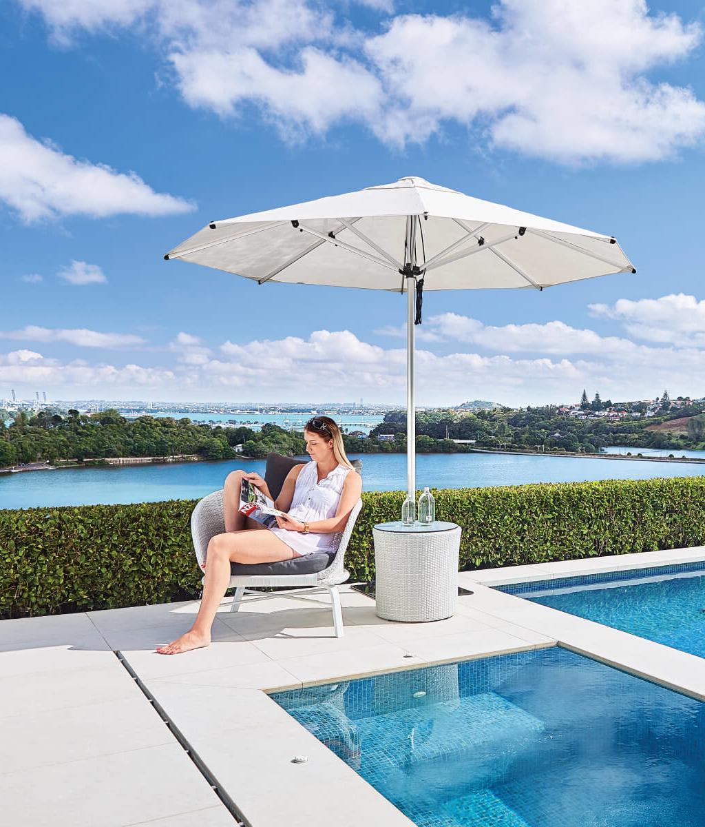 White Outside Umbrellas for NZ