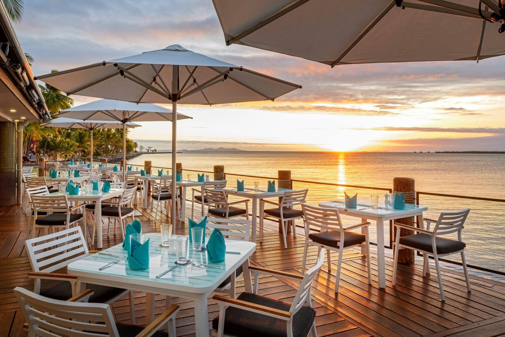 Sheraton Denarau Villas Wet Edge Restaurant Monaco Commercial Outdoor Umbrellas