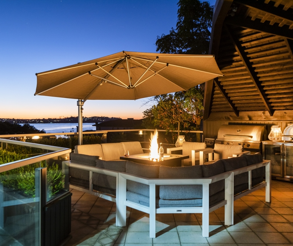 Riviera Cantilever Bucklands Beach Auckland Evening Gas Fire