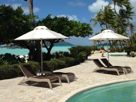 Bora Bora Pearl Beach Resort Fibreglass Sun Umbrella