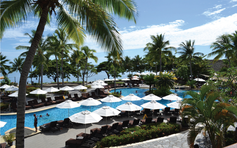 Sofitel Fiji Fibreglass Outdoor Umbrellas