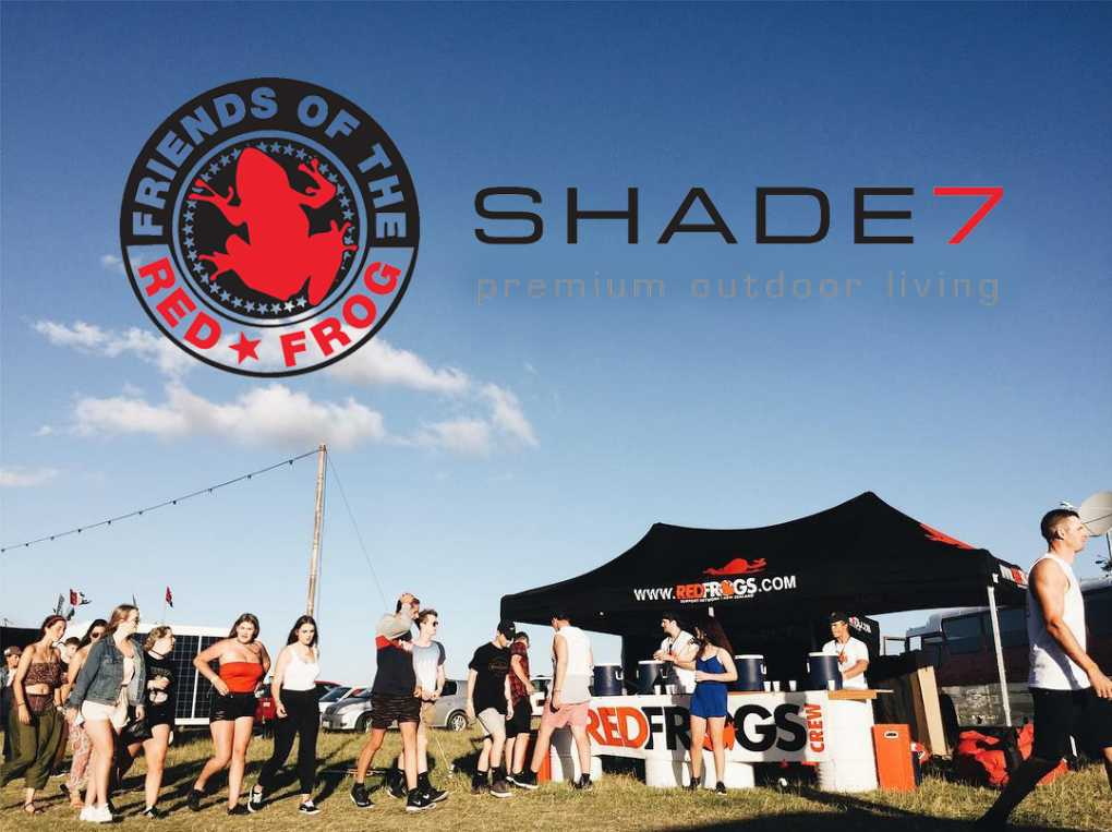 Red Frogs Shade7 Branded Gazebo