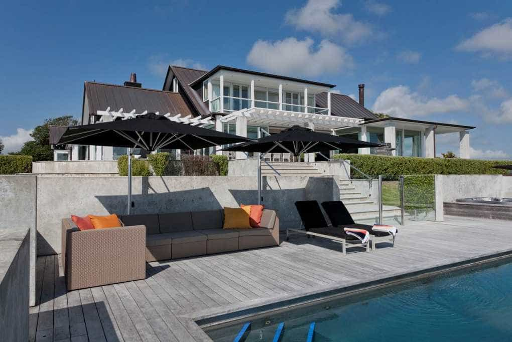Outdoor Living Large Cantilever Umbrella