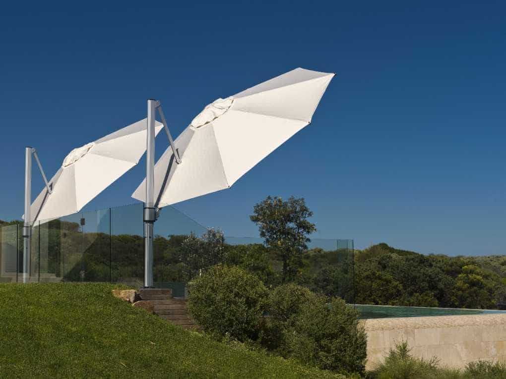 Tilted Large Cantilever Umbrella