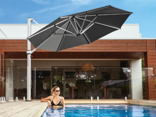 Charcoal Grey Cantilever Umbrella Auckland