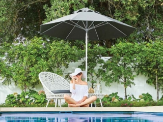 Fibreglass Charcoal Sun Umbrella