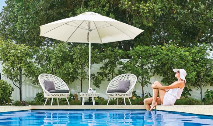 Fibreglass Ecru Sun Umbrella