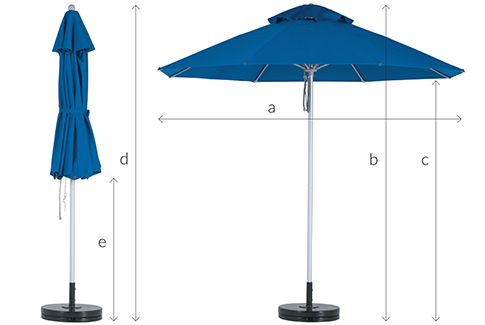 Fibreglass Outdoor Sun Umbrella Specs