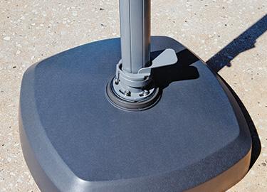 Foot Operated Rotating Umbrella Base