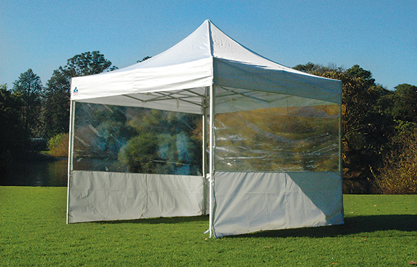 Half Clear Pop Up Gazebo Wall