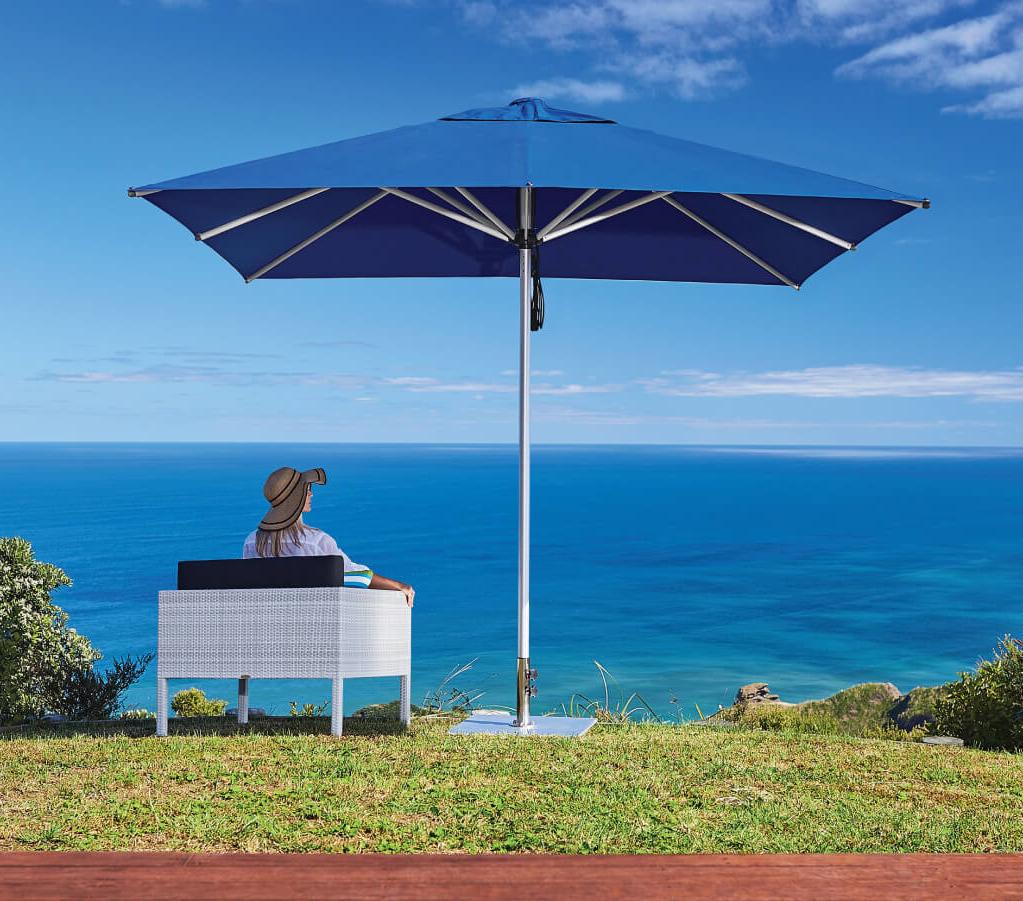 Navy Blue Outdoor Umbrella NZ