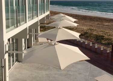 Paraflex Sun Umbrellas at Beach