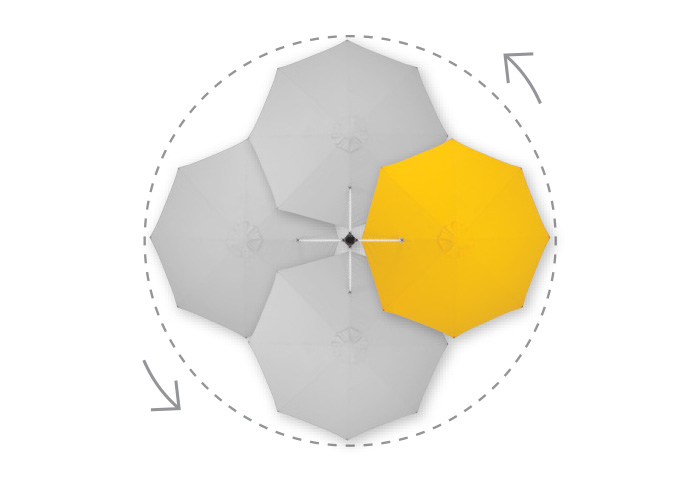 Rotating Cantilever Umbrella - Riviera
