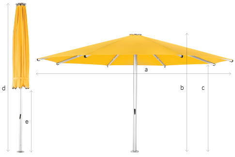 Tempest Commercial Outdoor Umbrella Specs