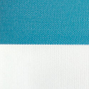 Turquoise White Stripe Outdoor Umbrella Fabric R11
