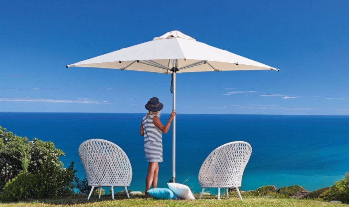 White Square Outdoor Umbrella