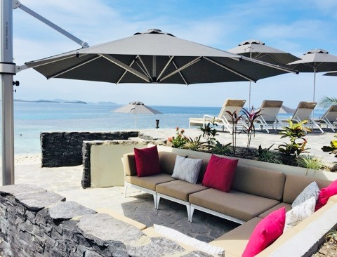 Matamanoa Island Resort NZ Outdoor Umbrella