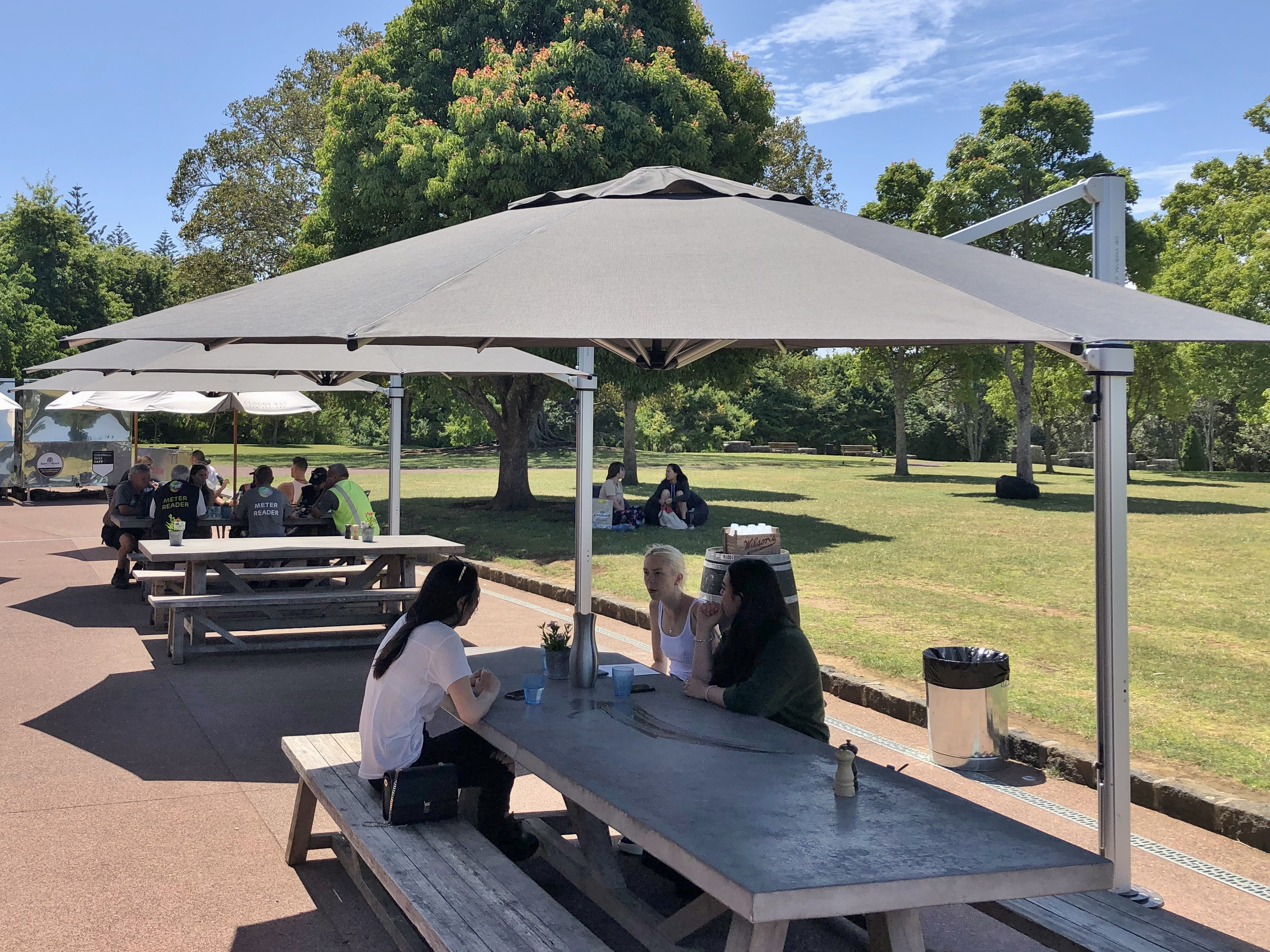 Cornwall Park Cafe Auckland Riviera Cantilever Umbrella