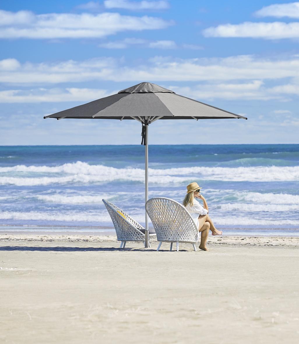 Monaco Outdoor Umbrella 3.5m Charcoal Auckland Beach