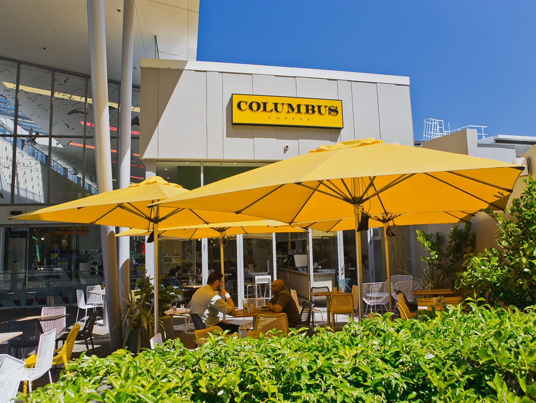 Columbus Coffee Yellow Milan Outdoor Umbrellas