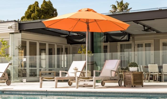 Venice Orange Outdoor Sun Umbrella