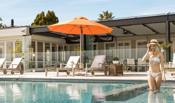 Venice Orange Outdoor Sun Umbrella
