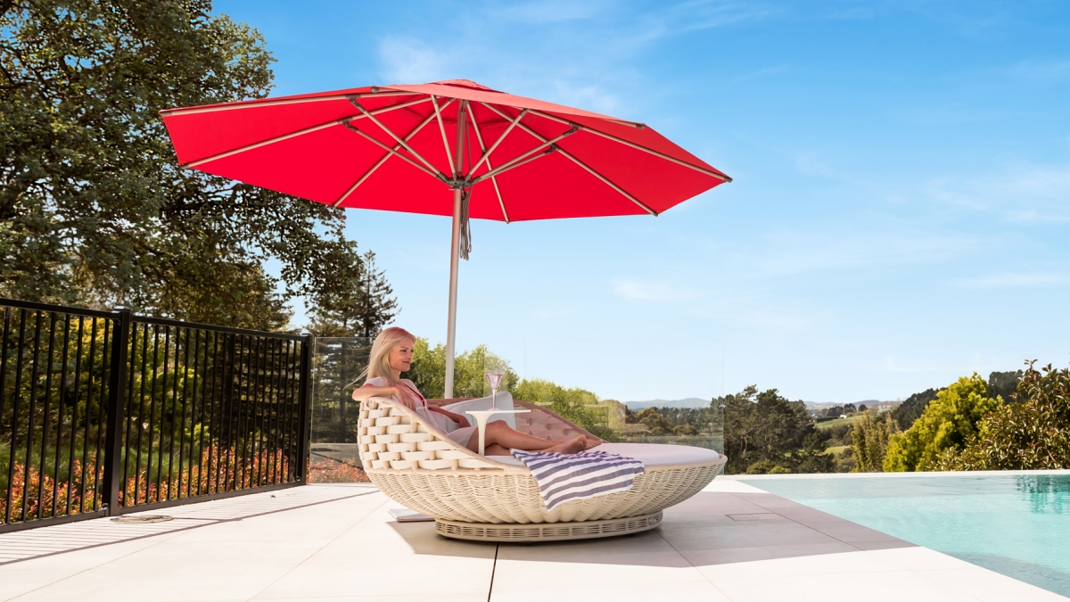 Milan Red Outdoor Sun Umbrella