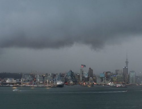 Bad weather Auckland waterfront